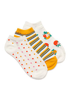 kate spade new york® Orangerie No Show Socks - 3 Pack