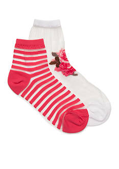 kate spade new york® Rosa Nylon Ankle Socks - 2 Pack