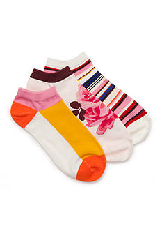 kate spade new york® Rosa No Show Socks - 3 Pack