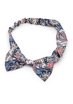 Red Camel Floral Paisley Bow Wrap
