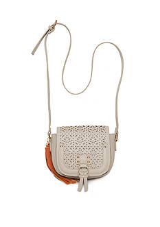 New Directions® Laser Cut Crossbody with Tassel