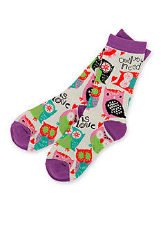 Little Blue House by Hatley Women's Owl You Need Is Love Socks - Single Pair