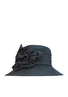 Giovannio Schoolgirl Satin Rosette Hat