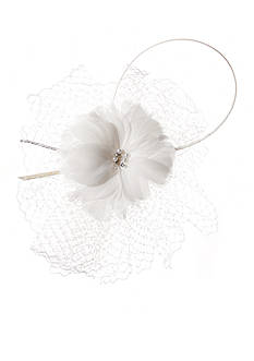 Giovannio Feather and Veil Bridal Comb
