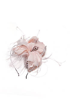 Giovannio Feather and Mesh Bridal Headband