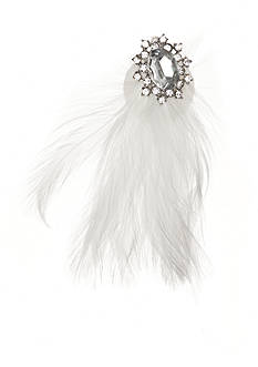 Giovannio Feather and Large Rhinestone Bridal Clip