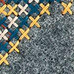 The Sak Handbags & Accessories Sale: Black Embroidered Felt The Sak Iris Card Wallet