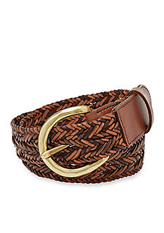 Fossil® Woven Multicolor Leather Belt