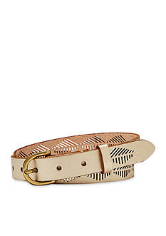 Fossil® Diamond Stripe Perforated Belt