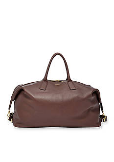 Fossil Preston Leather Weekender Bag