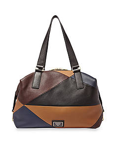 Fossil® Preston Leather Patchwork Satchel