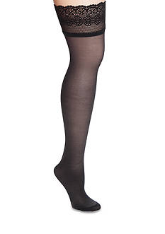 DKNY Sheer Lace Thigh High Tights