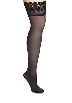 DKNY Sheer Lace Thigh High Tights