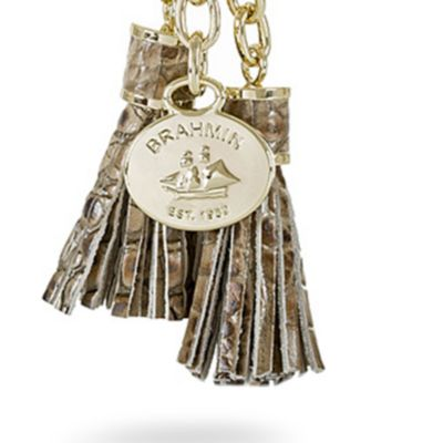Handbags and Wallets: Barley Brahmin Melbourne Collection Tassle Key Ring