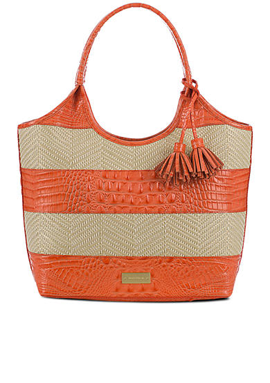 Brahmin Small Shopper Tote Raffia