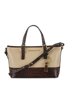Brahmin Summer Tuscan Tri-Texture Collection Mini Asher Satchel