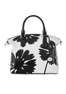 Brahmin White Encelia Collection Duxbury Satchel