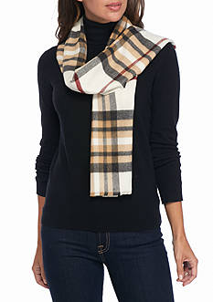 V Fraas Exploded Plaid Scarf