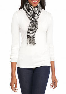 V Fraas Classic Houndstooth Scarf