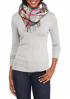 V Fraas Multi Houndstooth Infinity Scarf