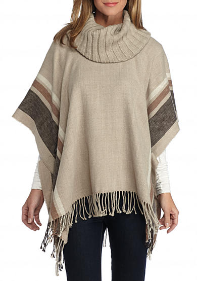 V Fraas Border Stripe Poncho