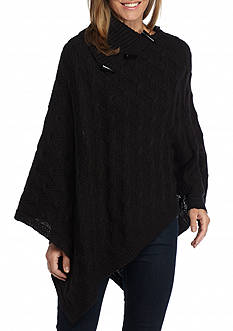 V Fraas Cable Knit Poncho