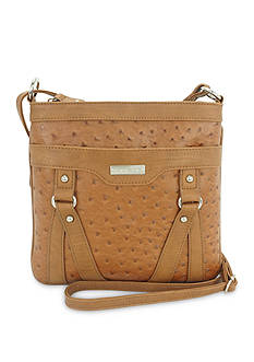 New Directions Holly Ostrich Crossbody Bag