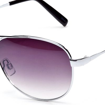 Fashion Sunglasses: Silver Jessica Simpson Classic Metal Aviator Sunglasses