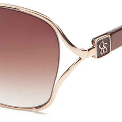 Jessica Simpson Handbags & Accessories Sale: Gold / Brown Jessica Simpson Square Glam Sunglasses