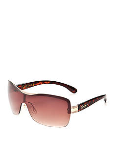Jessica Simpson Semi Rimless Shield Sunglasses