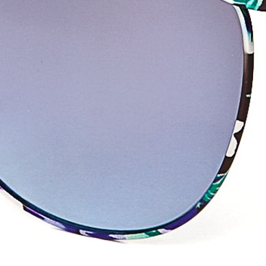 Round Sunglasses: Blue Jessica Simpson Round Metal Floral Sunglasses