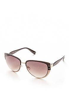 Jessica Simpson Embossed Snake Cateye Sunglasses