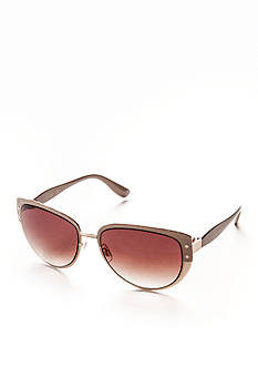 Jessica Simpson Embossed Snake Cateye Sunglasses