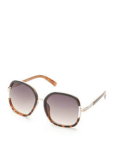 Jessica Simpson Round Vent Glam With Metal Bridge Sunglasses