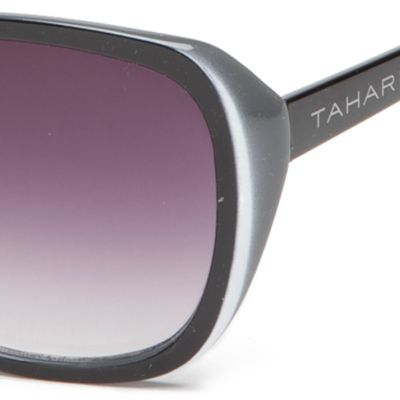 Tahari: Black TAHARI™ Glam Rectangle Sunglasses