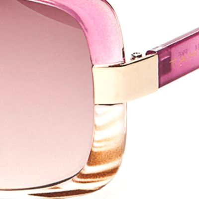 Tahari: Milky Fuchsia TAHARI™ Ombre Rectangle Sunglasses