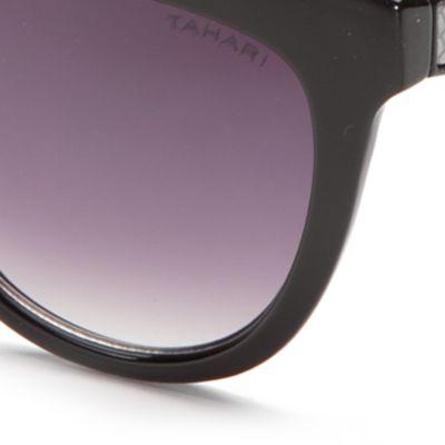 Spring Break Sunglasses: Black TAHARI™ Rectangle Sunglasses
