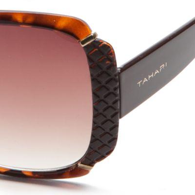 Spring Break Sunglasses: Tortoise TAHARI™ Glam Rectangle Sunglasses