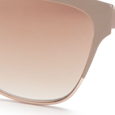 Spring Break Sunglasses: Gold Matte TAHARI™ Mirror Cat Eye Sunglasses