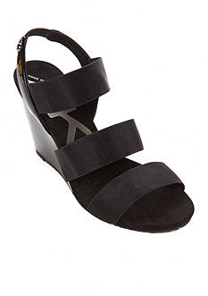 Anne Klein Taree Triple Band Wedge Sandals