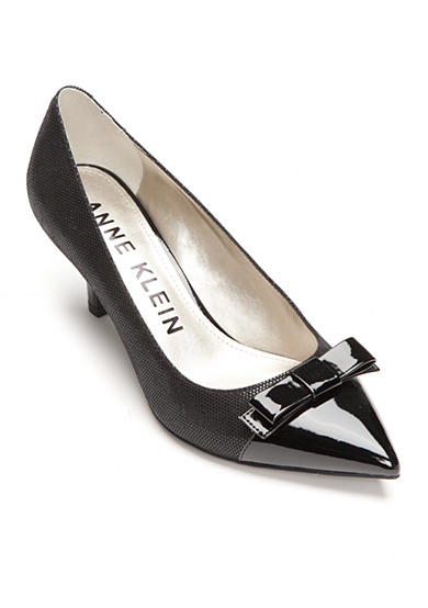 Anne Klein Flouncy Captoe Bow Pumps