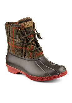 Sperry Saltwater Plaid Duck Boot
