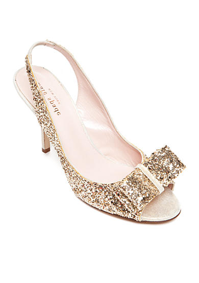 kate spade new york® Charm Glitter Pump - Available in Extended Sizes
