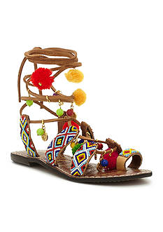 Sam Edelman Lisbeth Festival Pom Pom Flat Sandals