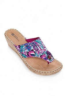 White Mountain Beachball Wedge Sandal
