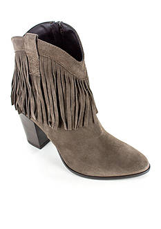 Summit White Mountain Indie Italian Suede Bootie with Fringe Detail
