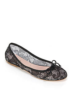 Summit White Mountain Kadison Italian Lace Fabric Ballet Flat with Bow