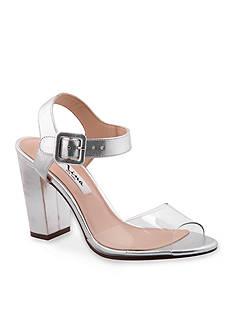 Nina Shirley Lucite Chunky Heel Sandal
