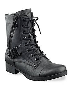 G by GUESS Brylee Faux Leather Combat Boots