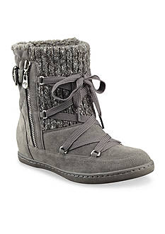 G by GUESS Rowly Sweater Lace Up Booties